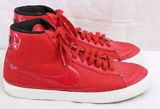 Nike 371761-662 Red Canvas High Top Athletic Fashion Sneakers Men's U.S. 10