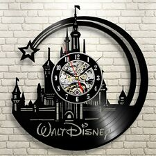 NEW Disney Movies Room Decor Art Gift Vinyl Record Wall Clock Vintage Design