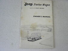 JEEP STATION WAGON & 4x2 UTILITY DELIVERY TRUCK 1960 OWNER MANUAL