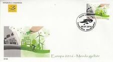 ALBANIA 2016 EUROPA CEPT THINK GREEN FDC