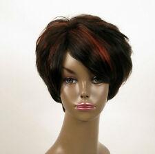 perruque femme afro 100% cheveux naturel courte méchée noir/rouge WHIT 03/1b410