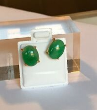Green Jade In 14k Gold earrings