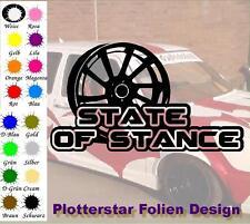 State of Stance Felge Aufkleber Sticker JDM OEM Like Bitch Felge Tief