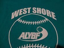 WEST SHORE Community FALL Baseball League Team Jersey T Shirt Adult size Medium
