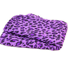 Ladies Beach Sarong Wrap Swimwear Beach Cover Up Scarf Purple Leopard