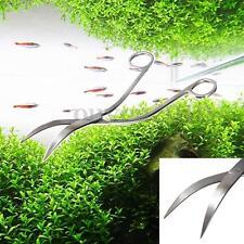 Ciseaux courbe onde pour Aquarium 24cm Acier inoxydable plant Aquatique Plant