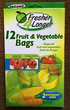 Sealapack frutta & verdura STORAGE BAGS Pacco di 12 sacchetti mantiene FEG freschi più a lungo