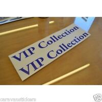 Hobby 'VIP Collection' Caravan name Sticker Decal Graphic SINGLE
