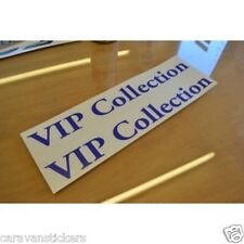 HOBBY 'VIP Collection' Caravan Name Sticker Decal Graphic - SINGLE
