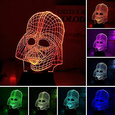 Valentine Night Light Star Wars Darth Vader USB Battery LED Desk Table Art Lamp