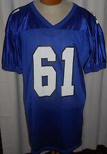 Vintage Nylon Wilson Football Jersey XL Royal Blue Practice 61 Smith USA Made