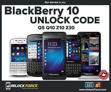 Unlock Code Telus Koodo Blackberry BB10 Q5 Q10 Z10 Z30 Classic Passport