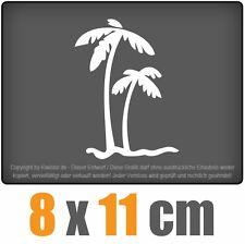 Palmiers 8 x 11 cm JDM Sticker Voiture Automatique Blanc Autocollant pour vitres
