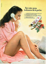 PUBLICITE ADVERTISING 044  1981  VEET  creme dépilatoire