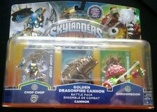 Skylanders Giants! New Golden Dragonfire Cannon, Chop Chop, And Shroomboom!