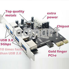NEW PCI-E PCI Express USB 3.0 Card 4 Port Hub Card Super Speed 5Gb/s VIA VL800