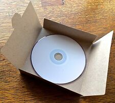 50 No Glue Brown Recycled Kraft Card CD DVD Sleeve/Wallet/Cover Unbranded/Blank