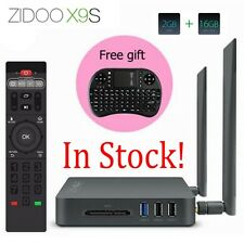 ZIDOO X9S Android6.0 Smart TV Box Quad Core 2G/16G WiFi/BT+Free i8 Fly Air Mouse