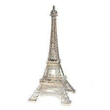 "Metal Eiffel Tower centerpiece or cake topper 13"" silver gold bronze colors"