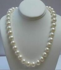"14K Solid Gold Clasp 8-9MM White Akoya Pearl Necklace 18""AAAYP"