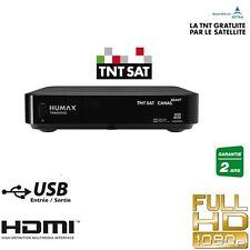 HUMAX TN-8000 Récepteur satellite TNTSAT + Carte TNT SAT Chaines Françaises
