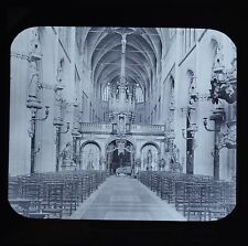 Magic Lantern Slide Photo Belgium Bruges Church Of Notre Dame Newton & Co