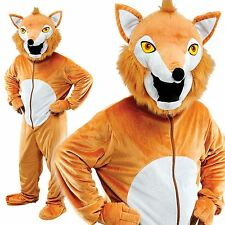 Deluxe Adult Fox Costume Fantastic Mr fox Big Head Mascot Foxy Bingo Fancy Dress