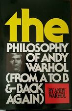 SALE PRICE *SIGNED* ANDY WARHOL PHILISOPHY OF...BOOK-1ST ED/EXCELLENT COND.