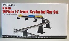 BACHMANN N SCALE 16 PC. E-Z TRACK GRADUATED BRIDGE PIER SET ez train 44871 NEW