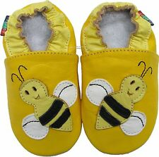 shoeszoo bee yellow 6-12m S soft sole leather baby shoes