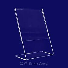 L Aufsteller A4, 10x , Hochformat, Acrylglas Ständer, Tischaufsteller, Display