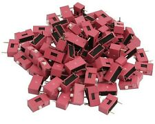 20pcs Slide Type Switch 1-Bit 2.54mm 1 Position DIP Red Pitch Y2