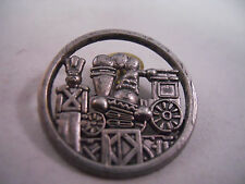 1998 Hallmark Pin, 25th aniversary Tin Solider Locomotive , Peweter Lapel Pin