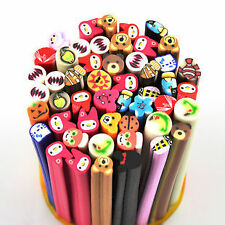 10 Animals Fimo Canes Rod Polymer Clay Nail Art Stick Sticker Decoration 3D