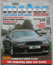 1992 Daily Mail Motor Review Motor Show Edition