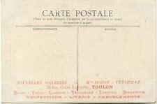 TOULON verso carte: nouvelles galeries mr BOZON VERDURAZ cours lafayette