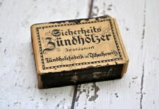 Old German box after matchbook Alte deutsche Box nach Streichholzbriefchen