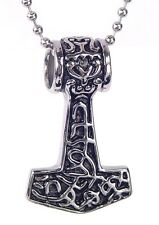 BUTW  Stainless Steel  Thors Hammer Necklace Pendant Norse Viking Mjollnir 6480K