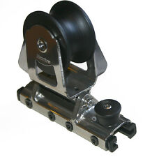 "NAUTOS 91408 - SLIDING GENOA CAR - DOUBLE ROLLER SHEAVE - 25MM ""T"" TRACK"