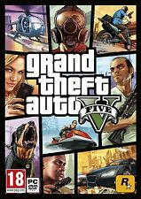 GRAND THEFT AUTO V GTA 5 PC Game ORIGINAL (BRAND NEW SEALED) GAME DISK