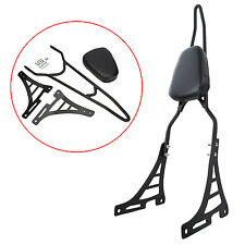 Black Rear Backrest Pad Sissy Bar Cushion For Harley Sportster XL 883 1200 04-15