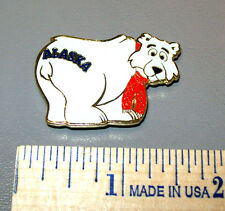 "Alaska metal fridge magnet, Polar Bear with ""Alaska"" on his rear end, unique!"