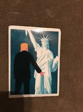 "Trump and Lady Liberty Grab By The P@@@Y Funny Political Sticker! 5""hi×3""w"
