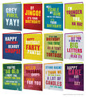 Brainbox Candy Birthday greeting cards funny rude cheeky joke humorous graffiti