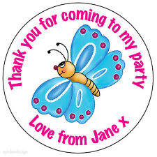 35x Personalised Butterfly Happy Birthday Stickers Thank You Seals -N216