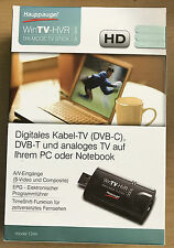 Haupauge USB TV-Karte - Digitales Kabel-TV DVB-C DVB-T und Analoges TV USB Stick
