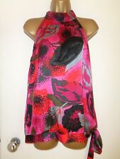NEXT RED PINK FLOWER SEQUIN TOP SIZE 18