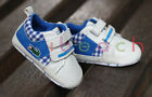 Baby Boy Blue Plaid Soft Sole Crib Shoes Sneakers Size Newborn to 18 Months