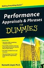 Performance Appraisals and Phrases For Dummies by Ken Lloyd Paperback Book (Engl