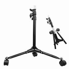 "NEW 29"" 74cm Photography Studio Photo 3 Legs Dolly Wheels Floor Light Stand"